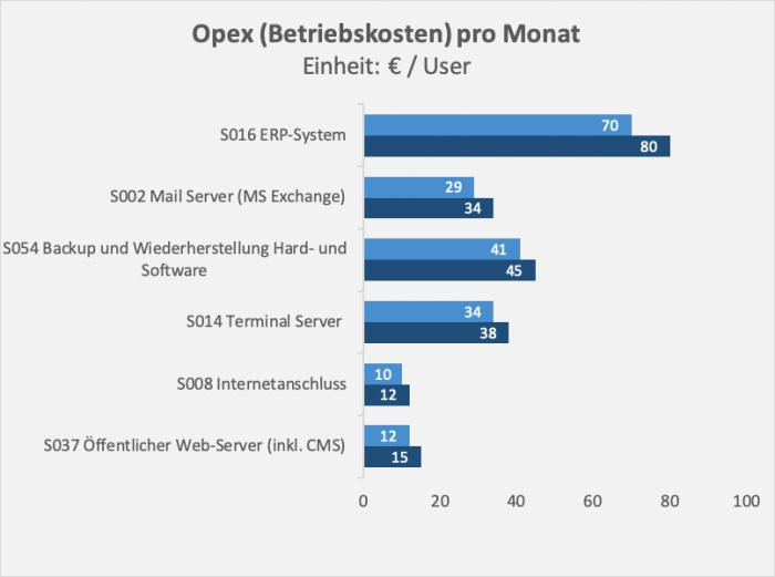 IT Betriebskosten pro Monat / Opex