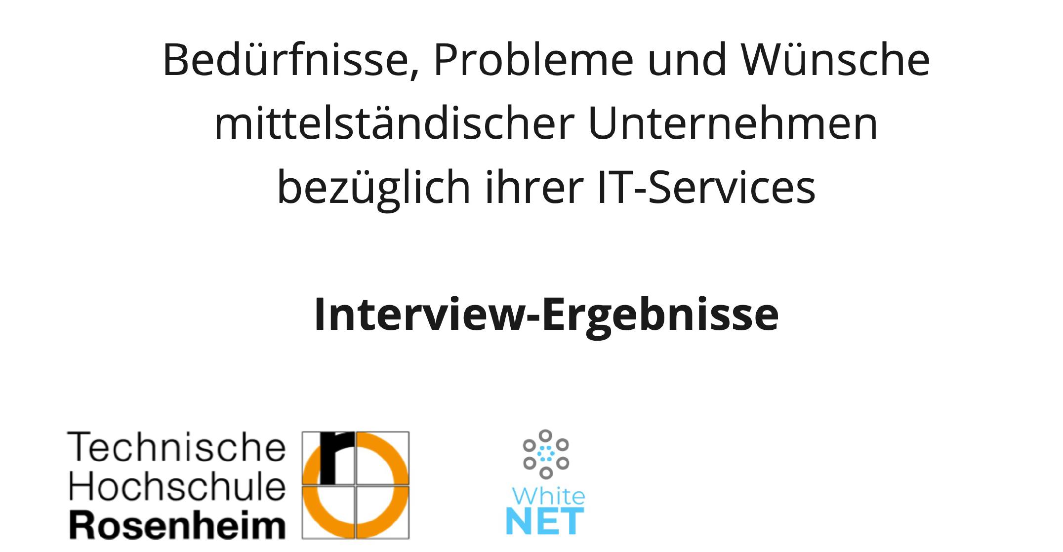 Ergebnisse einer studentischen Projektarbeit der TH Rosenheim: IT-Herausforderungen von mittelständischen Unternehmen